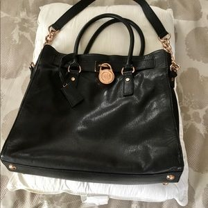 Micheal Kors Large Hamilton Satchel Handbag